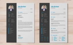 006 Stirring Cv Design Photoshop Template Free Inspiration  Resume Psd Download