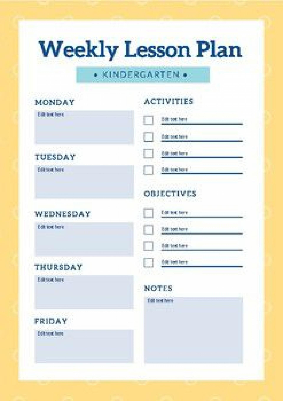 006 Stirring Editable Lesson Plan Template Kindergarten Picture  Free1920