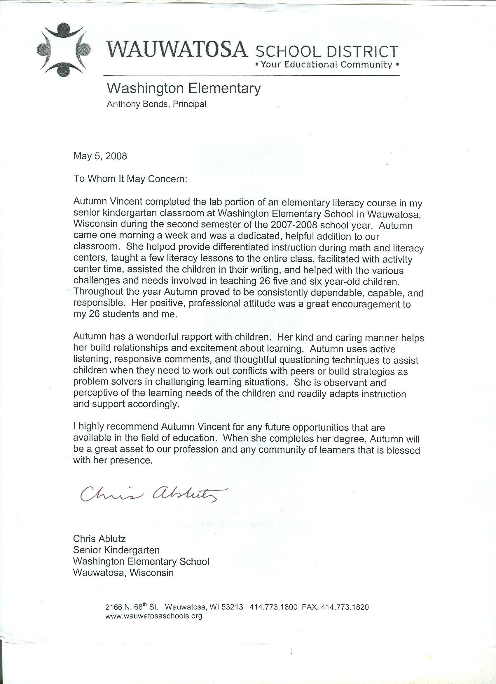 006 Stirring Letter Of Recommendation For Student Teacher From Cooperating Template Image Full