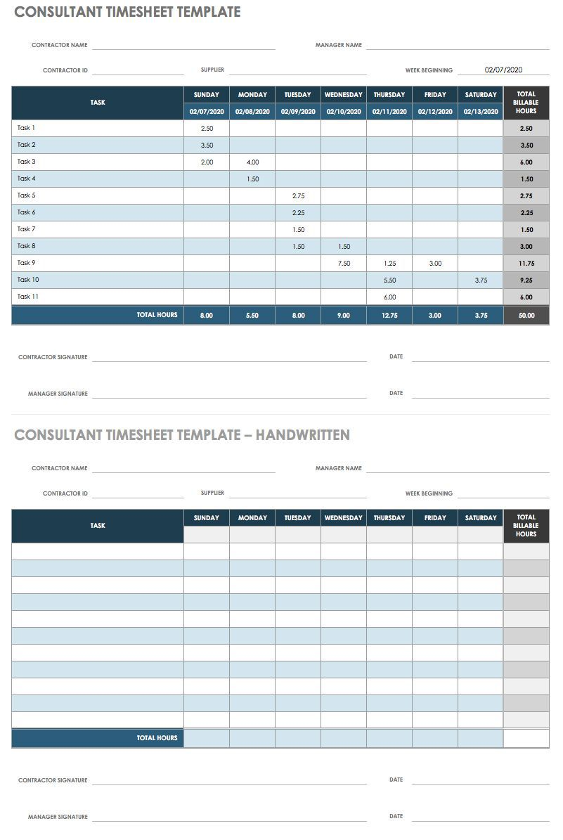 006 Stirring Multiple Employee Time Card Template Image Full