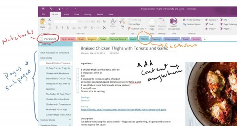 006 Stirring Onenote 2016 Project Management Template Idea 480