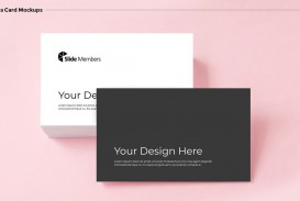 006 Stirring Powerpoint Busines Card Template Highest Clarity  Ppt Create