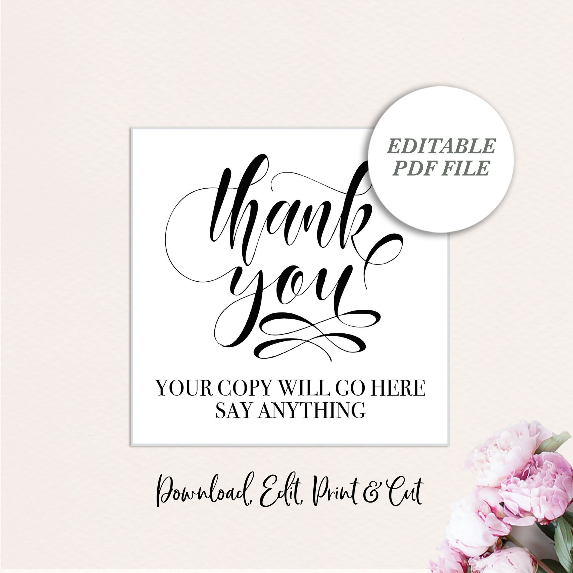 006 Stirring Wedding Favor Tag Template Picture  Templates Editable Free Party Printable1920