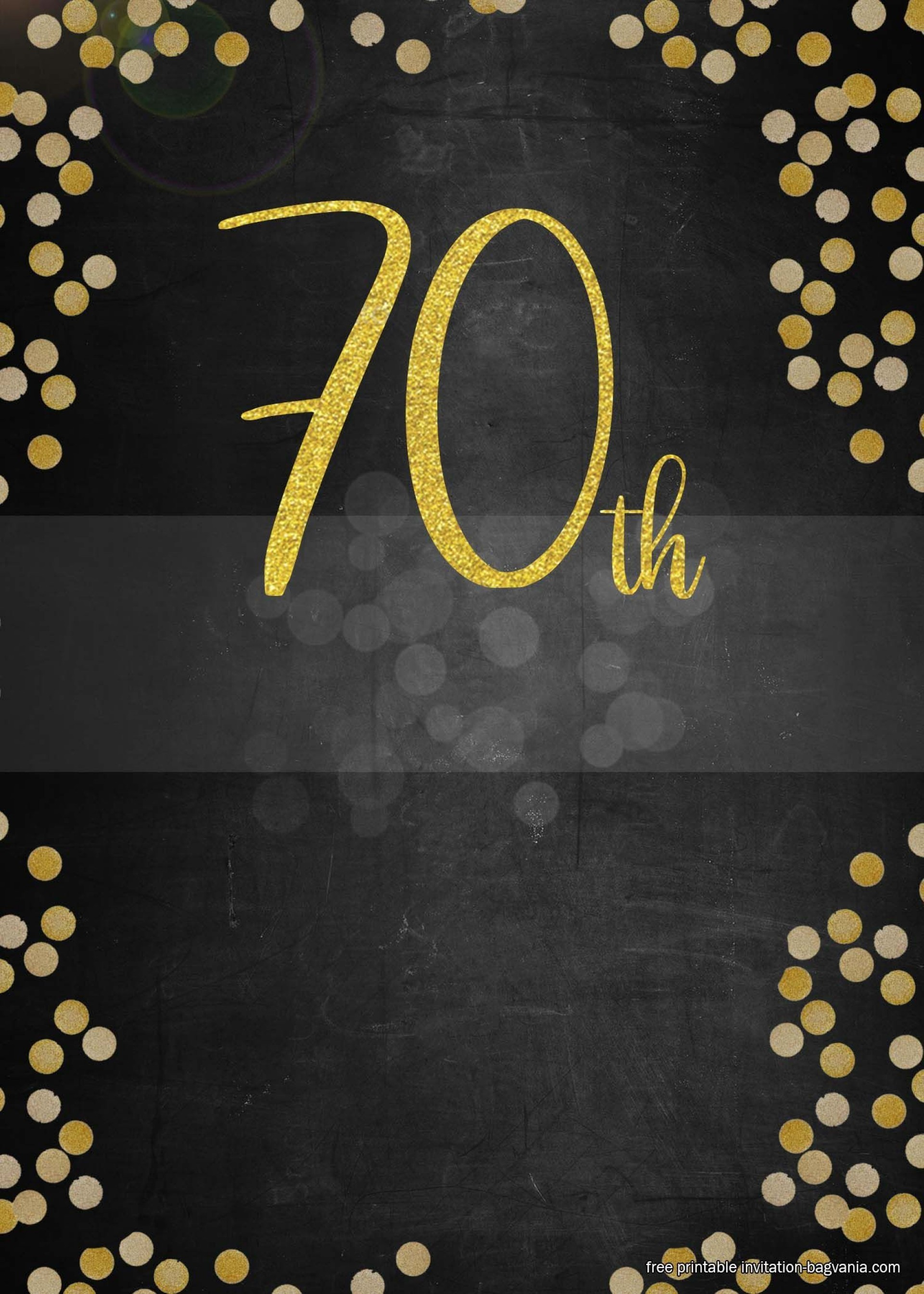 006 Striking 70th Birthday Invitation Template Free Inspiration  Surprise Invite With Photo1920