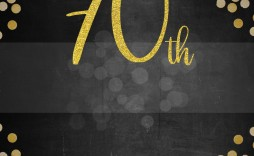 006 Striking 70th Birthday Invitation Template Free Inspiration  Surprise Invite With Photo