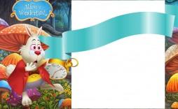 006 Striking Alice In Wonderland Tea Party Template High Def  Templates Invitation Free