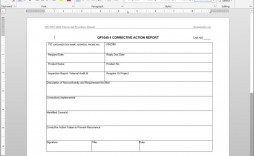 006 Striking Corrective Action Report Template Design  Doc 8d Format Pdf