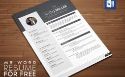 006 Striking Cv Resume Word Template Free Download Design  Curriculum Vitae
