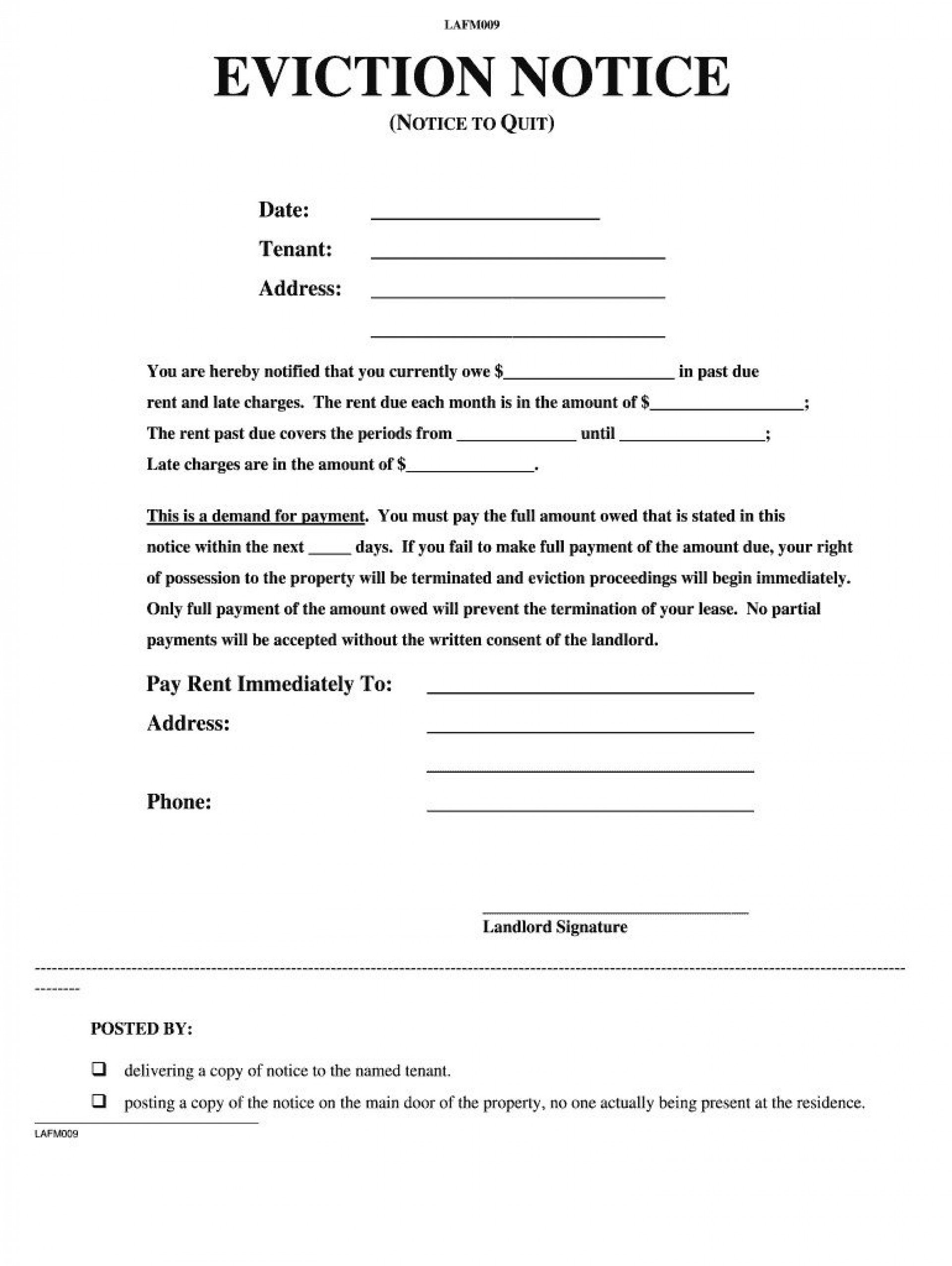 006 Striking Eviction Notice Template Free Highest Clarity  30 Day Uk Word Document1920