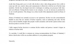 006 Striking Example Of Letter Recommendation For Graduate School From Employer High Def  Sample Pdf Grad