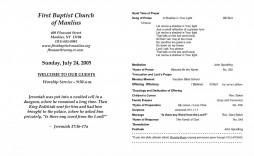 006 Striking Free Church Program Template Doc Highest Quality