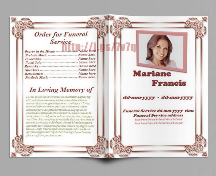 006 Striking Free Download Template For Funeral Program Highest Quality 728