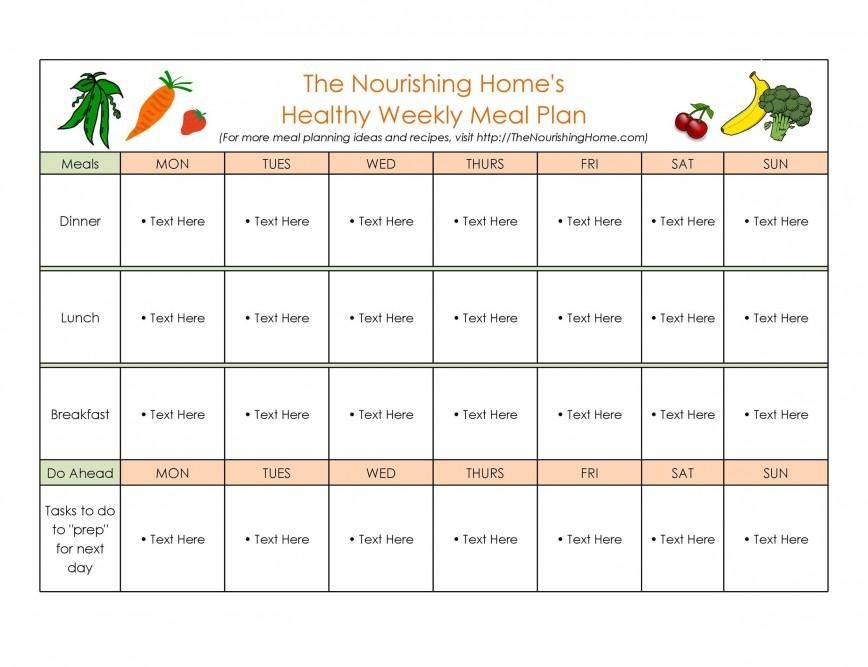 006 Striking Free Food Planner Template Sample  Menu With Grocery List Printable Journal Diet