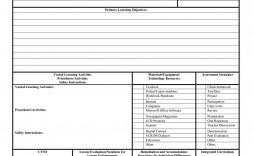 006 Striking Free Lesson Plan Template Word Highest Clarity  Preschool Doc