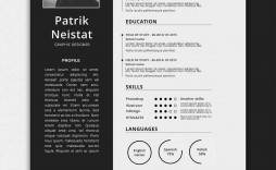 006 Striking Free One Page Resume Template Example  Word Download 2018 Best