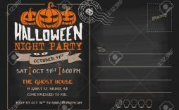006 Striking Halloween Party Invitation Template Design  Microsoft Block October