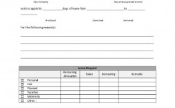 006 Striking Leave Of Absence Form Template Idea  Medical Request Free