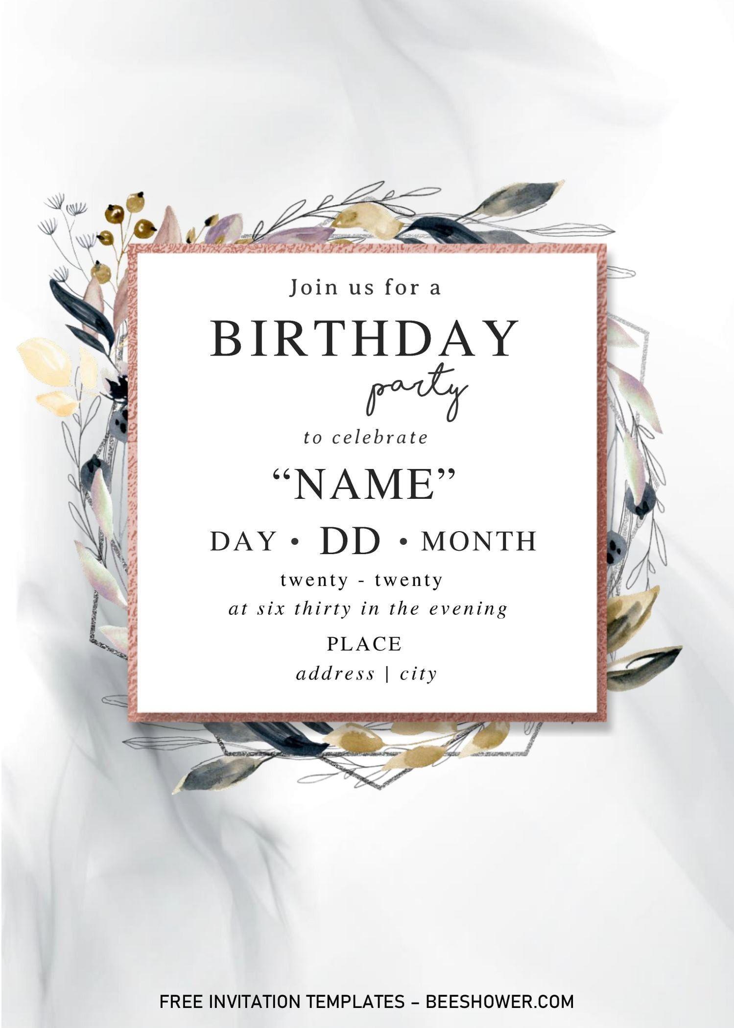 006 Striking Microsoft Word Invitation Template Baby Shower Sample  Free Editable InviteFull