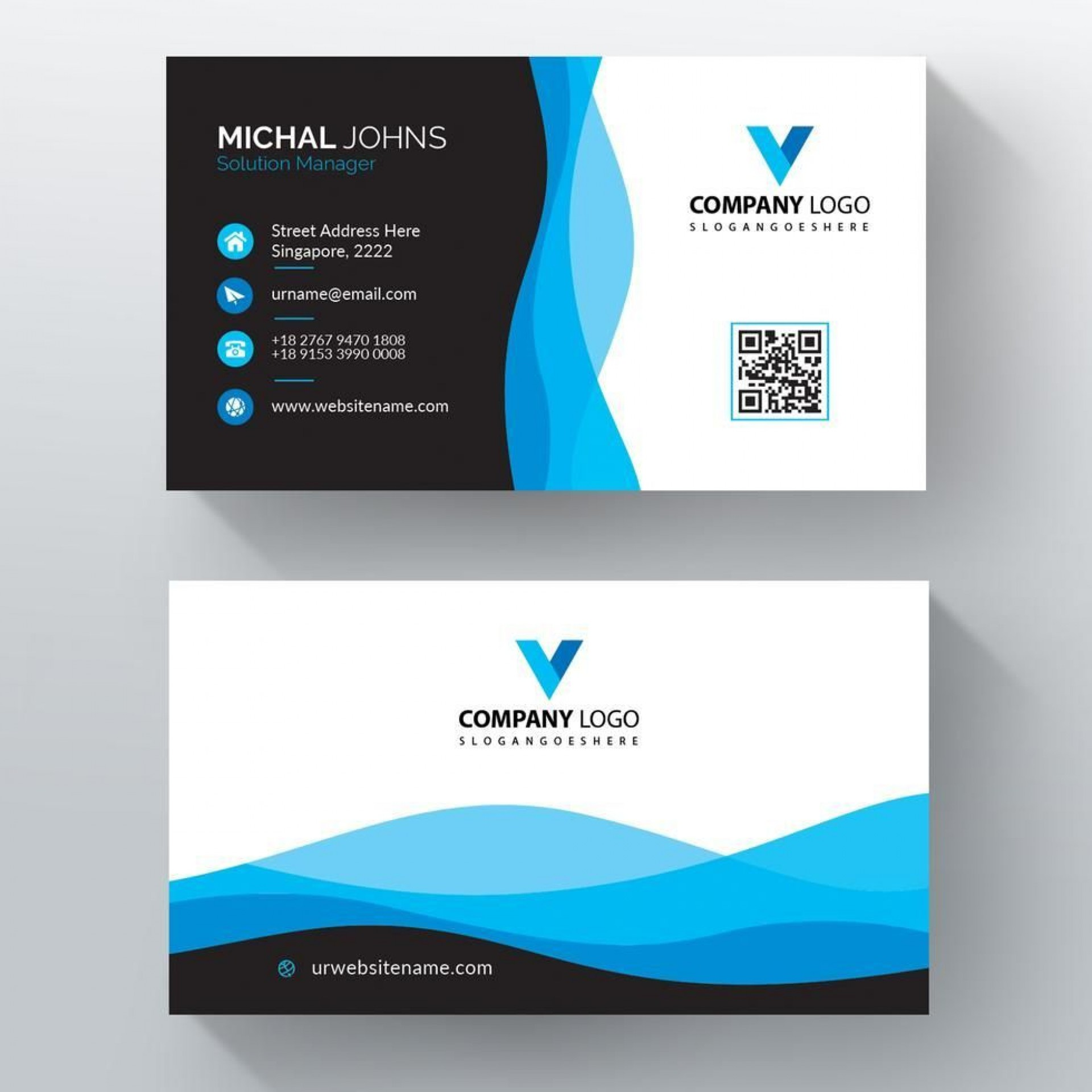 006 Striking Minimal Busines Card Template Free Download Idea  Simple Design Coreldraw1920