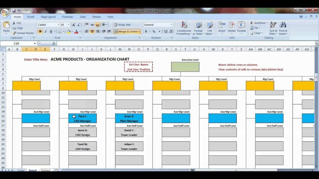 006 Striking Org Chart Template Excel Photo  Free DownloadLarge
