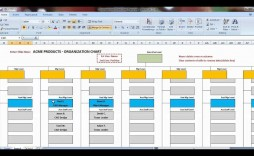 006 Striking Org Chart Template Excel Photo  Free Download