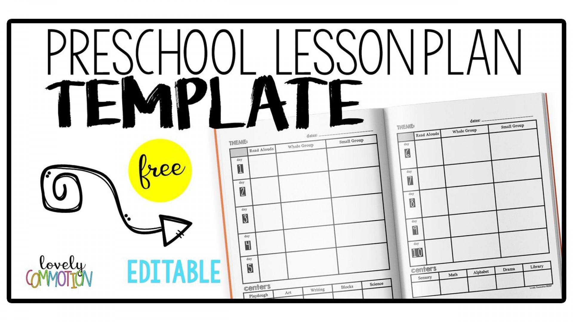 006 Striking Prek Lesson Plan Template Concept  Free Daycare Pdf Example Of Pre-k1920