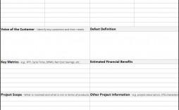 006 Striking Project Charter Template Excel Concept  Lean Pmbok Nederland
