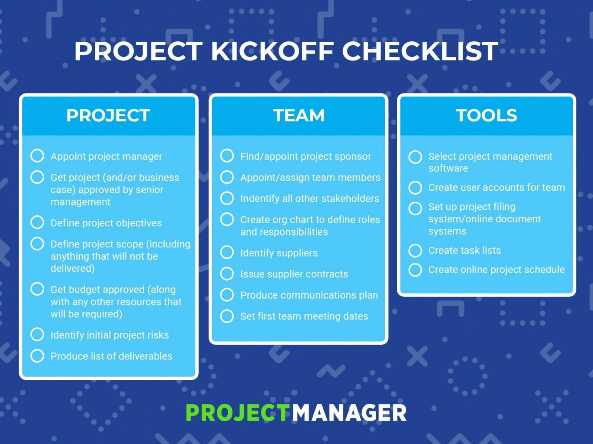 006 Striking Project Management Kick Off Meeting Agenda Template Sample  Kickoff1920