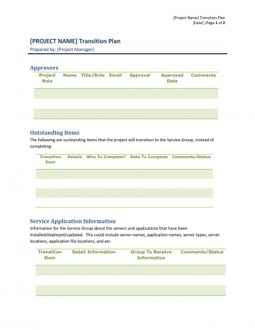 006 Striking Project Transition Plan Sample Inspiration  Template Ppt Out360