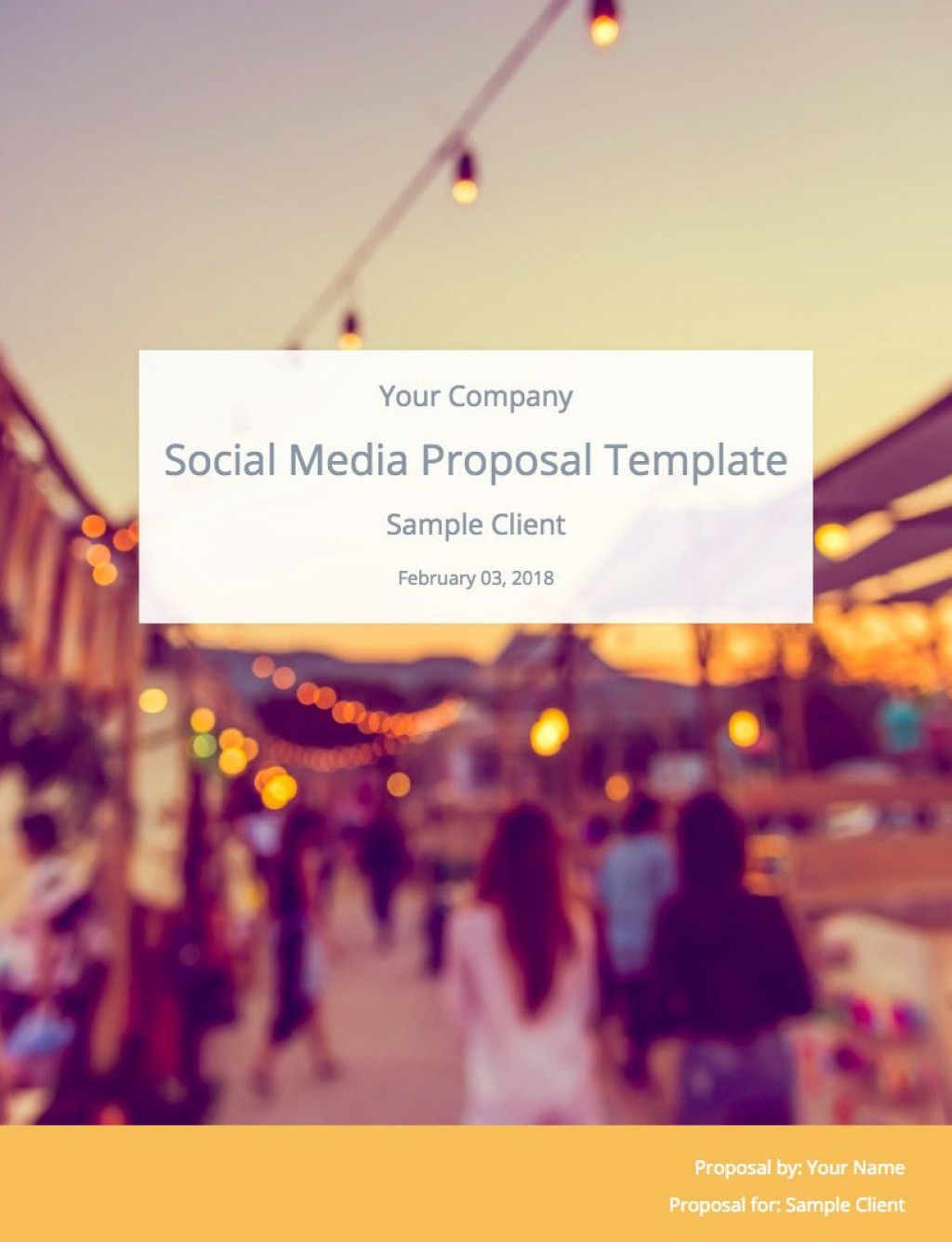 006 Striking Social Media Proposal Format High Resolution  Marketing Example PlanLarge