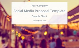 006 Striking Social Media Proposal Format High Resolution  Marketing Example Plan