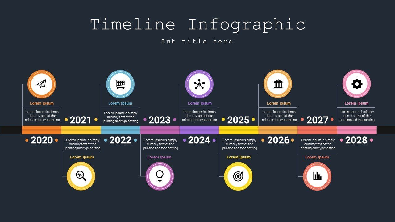 006 Striking Timeline Template Powerpoint Free Download Image  Project Ppt AnimatedFull