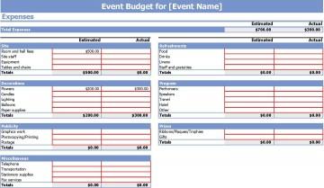 006 Stunning Event Planning Budget Worksheet Template Image  Free Download Planner Spreadsheet360