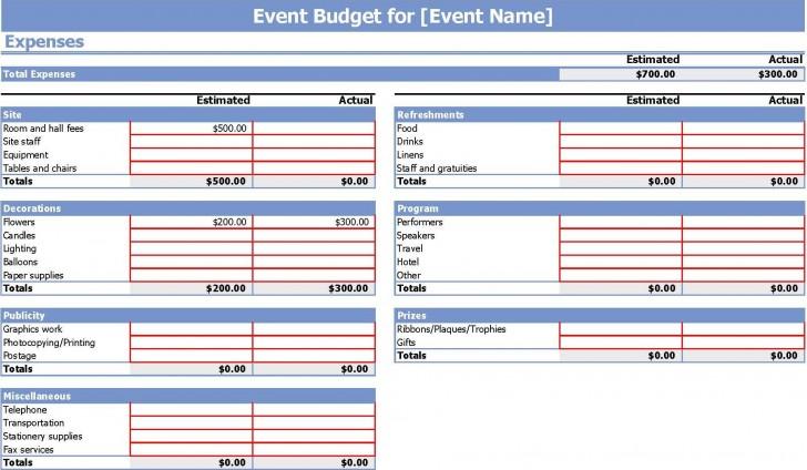 006 Stunning Event Planning Budget Worksheet Template Image  Free Download Planner Spreadsheet728