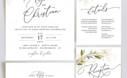 006 Stunning Formal Wedding Invitation Template Highest Clarity  Templates Email Format Wording Free