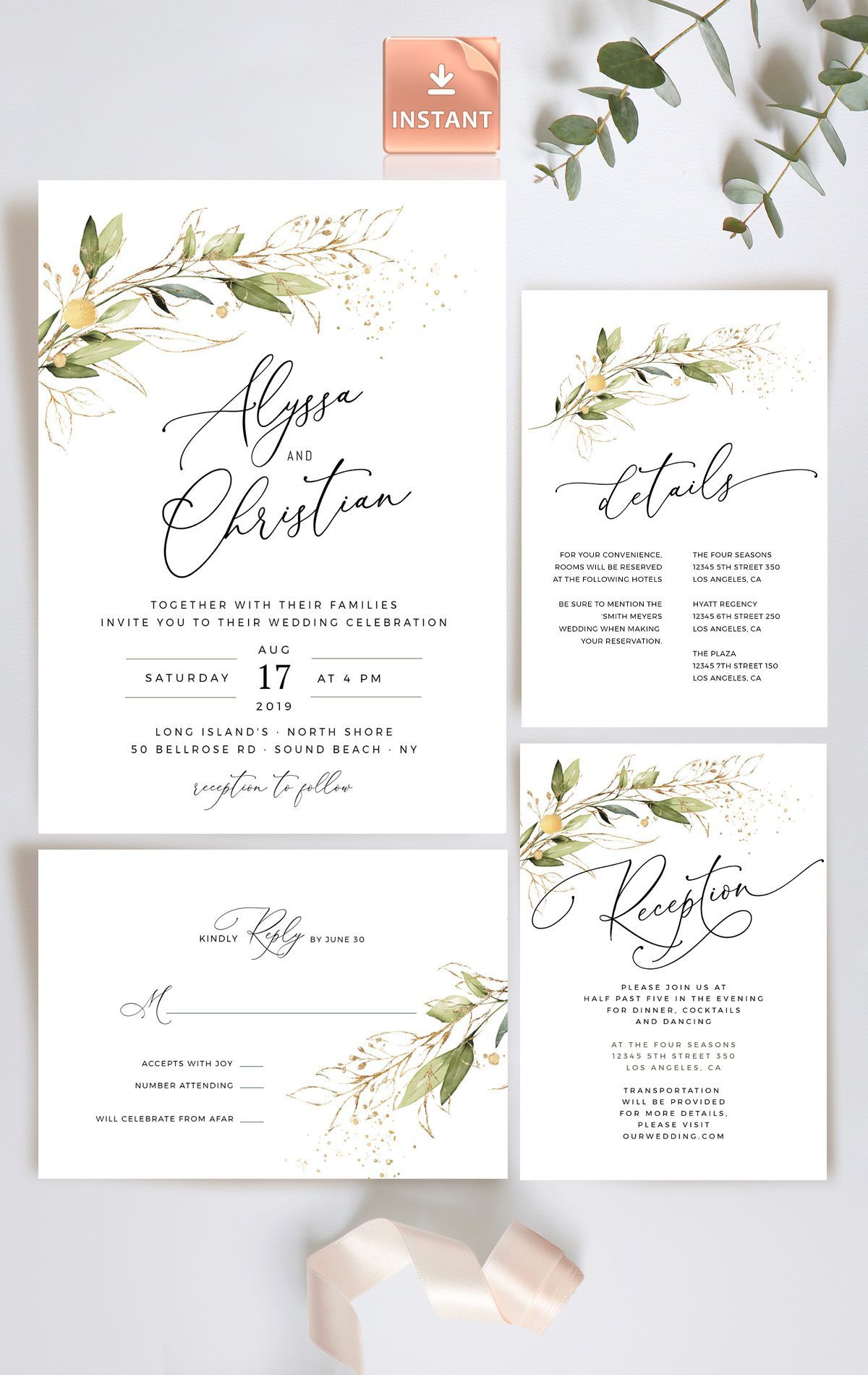 006 Stunning Formal Wedding Invitation Template Highest Clarity  Templates Email Format Wording FreeFull