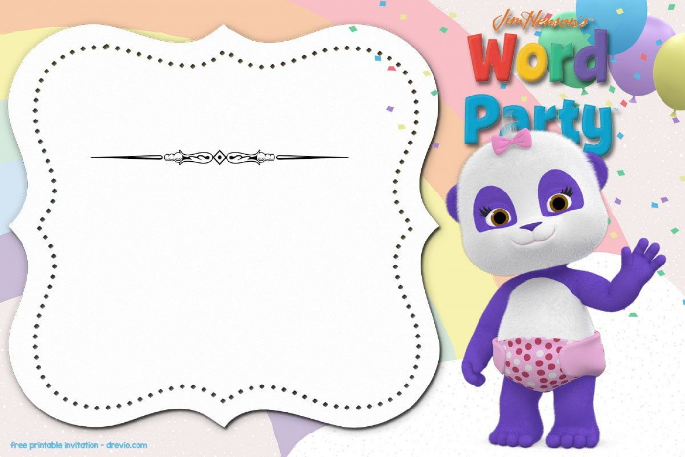 006 Stunning Free Birthday Party Invitation Template For Word High Definition 1400