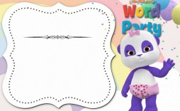 006 Stunning Free Birthday Party Invitation Template For Word High Definition
