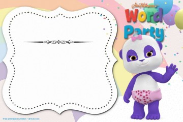 006 Stunning Free Birthday Party Invitation Template For Word High Definition 360
