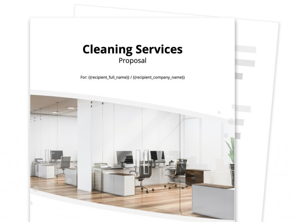 006 Stunning Free Cleaning Proposal Template Image  Office Busines WordLarge