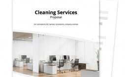006 Stunning Free Cleaning Proposal Template Image  Office Bid Pdf Busines For Service