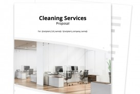 006 Stunning Free Cleaning Proposal Template Image  Office Bid Service