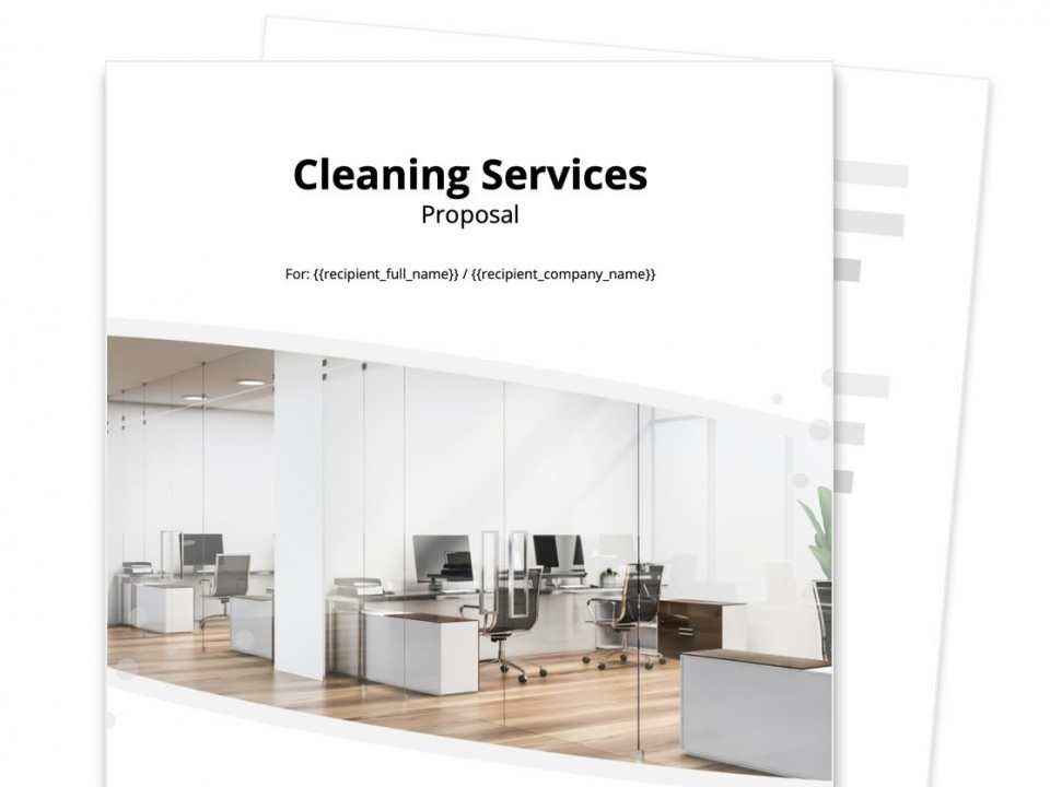006 Stunning Free Cleaning Proposal Template Image  Office Busines Word960