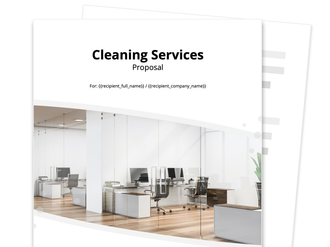 006 Stunning Free Cleaning Proposal Template Image  Office Busines WordFull