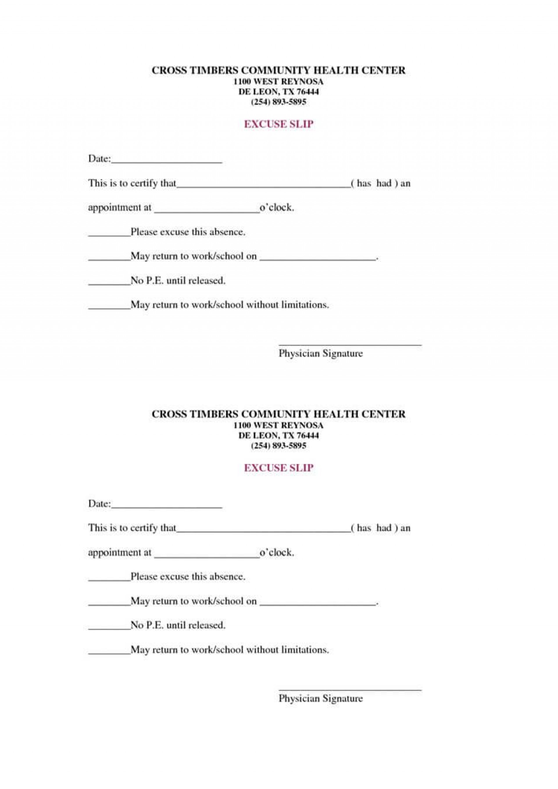 006 Stunning Free Doctor Note Template For Work Highest Quality  Printable Editable Fake Pdf1920