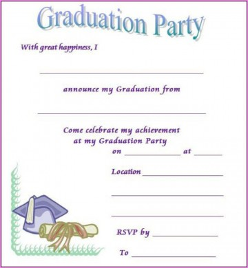 006 Stunning Free Printable Graduation Invitation Template Sample  Party For Word360