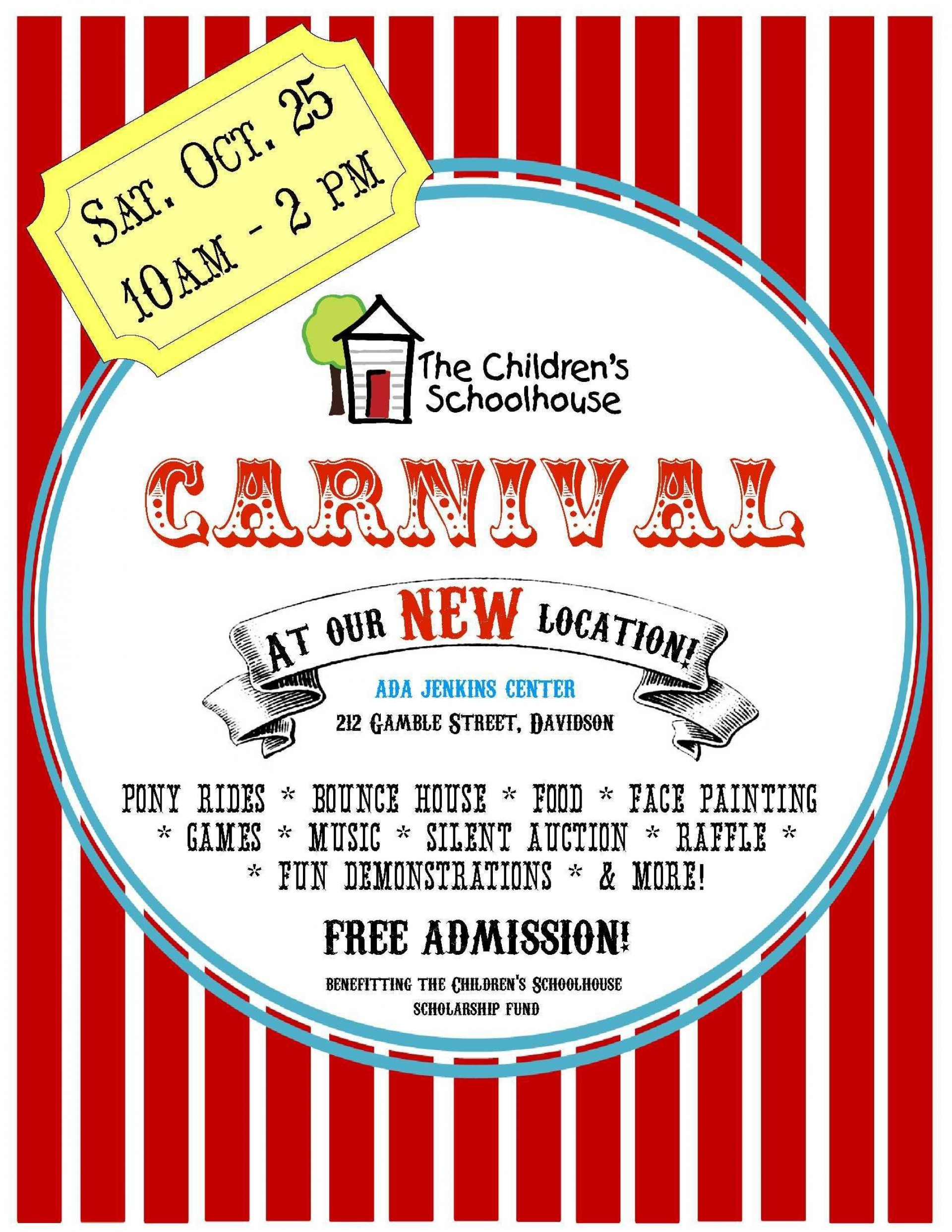 006 Stunning Free School Carnival Flyer Template Example  Templates Download1920