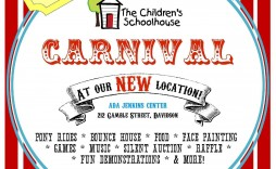 006 Stunning Free School Carnival Flyer Template Example  Templates Download