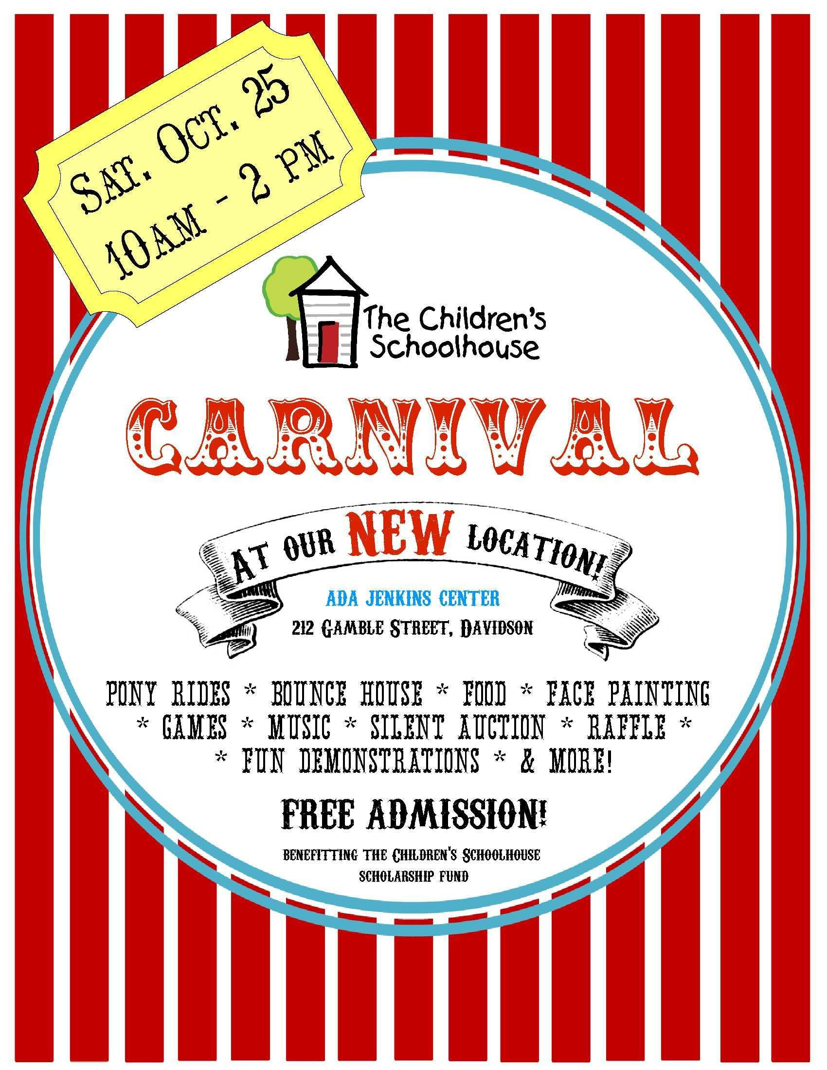 006 Stunning Free School Carnival Flyer Template Example  Templates DownloadFull