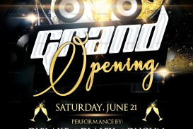006 Stunning Grand Opening Flyer Template Example  Free Psd Busines
